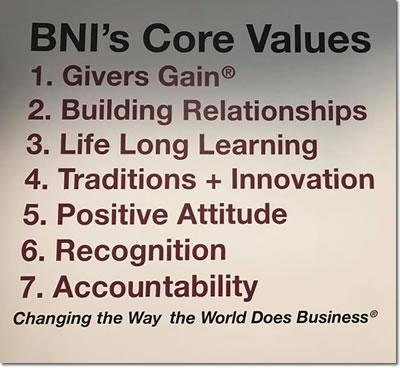BNI Knoxville, Tennessee Core Values